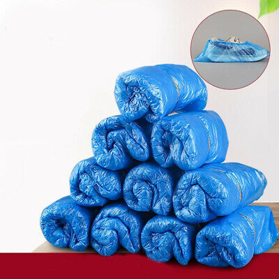 1000 Disposable Plastic Blue Anti Slip Shoe Covers Cleaning Overshoes Protective