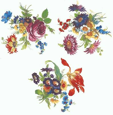 Victorian Framed Flower Bouquet Select-A-Size Waterslide Ceramic Decals Xx