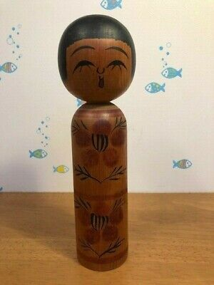 Kokeshi traditional Japanese crafts author毛利(Mouri) 8.2in