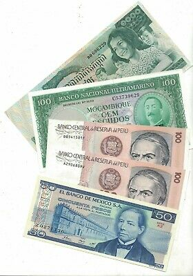 10 x World Banknotes UNC, on sale