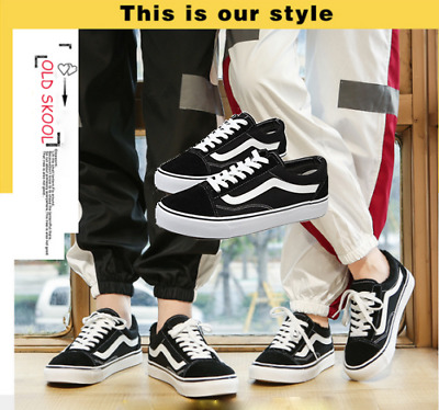MENS WOMENS VANS Classic OLD SKOOL Low Top Casual Canvas sneakers Shoes Fashion