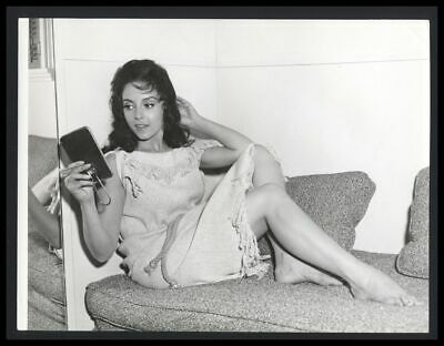 AB-596 8X10 PUBLICITY PHOTO LILIANE BROUSSE FRENCH ACTRESS PIN UP