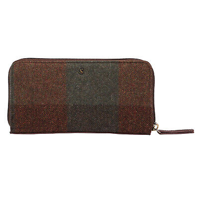 Joules Fairford Tweed Womens Wallet/purse Purse - Green One Size