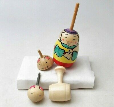 Kokeshi traditional Japanese crafts EDO TOP Small mouse top Daikokuten