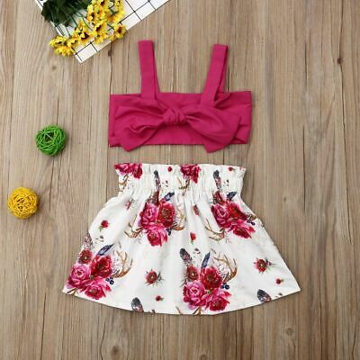 Ruby Floral Crop & Skirt Set