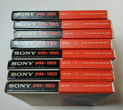 Lot of 8 Sony PR-150 Professional Recording Tapes Reel to Reel 1800 Feet Used