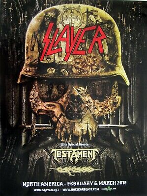 Slayer / Lamb Of God / Amon Amarth / Cannibal Corpse 2019 Concert Tour Poster