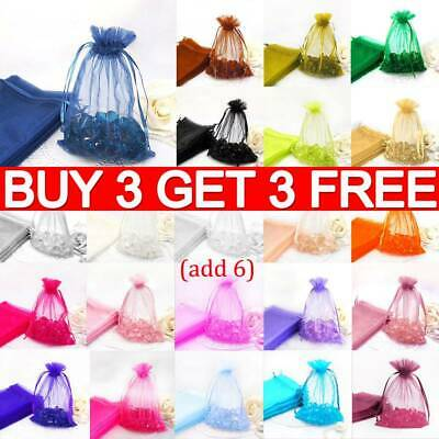 10Pcs Organza Wedding Xmas Party Favor Gift Candy Bag Jewellery Packing Pouch RO