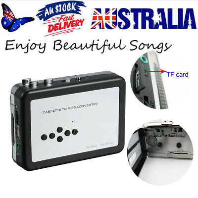 Cassette Tape to USB MP3 Converter Audio Capture to TF Card Walkman Music Player