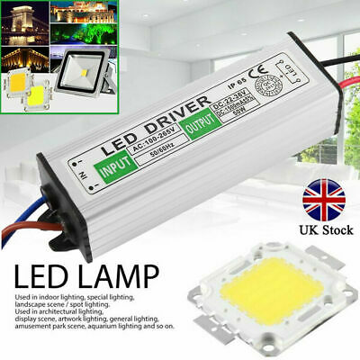 LED SMD 50W Chip Bulbs Power Supply Switch Waterproof For LED Strip Lights New