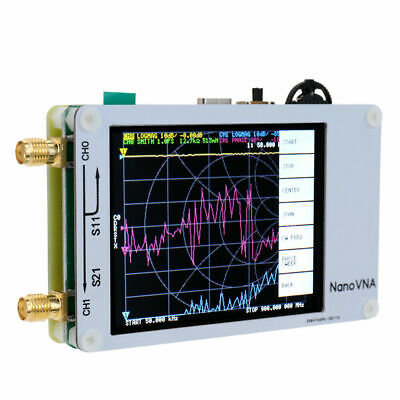 2.8 Inch Mini NanoVNA MF HF VHF UHF Antenna 50KHz-900MHz Vector Network Analyzer