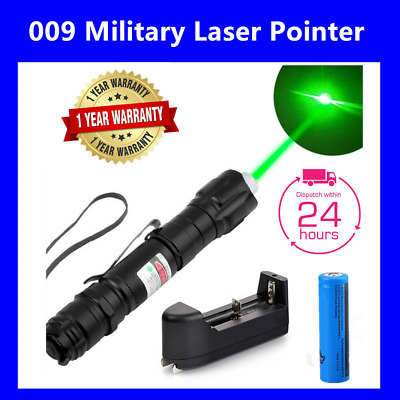 1/2/5Sets Military Powerful 009 Green Laser Pointer Pen - 18650 Battery&Charger