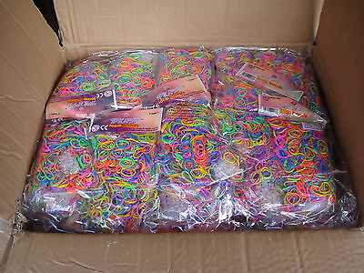 Wholesale Joblot 24000 Loom Bands Liquidated Bankrupt Clearance Party Stock Sale