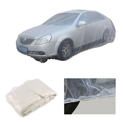 Universal Disposable Clear Plastic Car Cover Waterproof Rain Dust Garage Cover