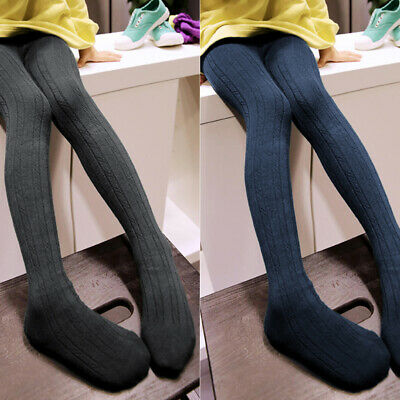 Toddler Pantyhose Stocking Girls Cotton Warm Tights Knitted Thick Soft