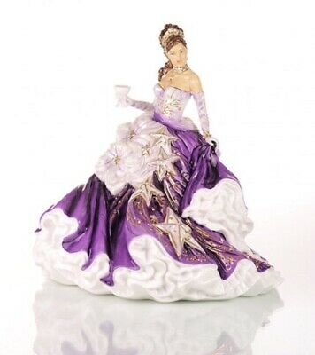 The English Ladies Co Congratulations Amethyst Doll Figurine, New And Boxed
