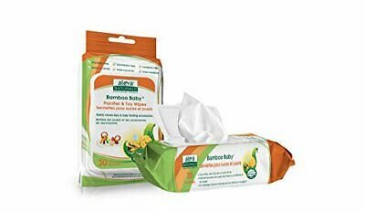 Aleva Naturals Bamboo Baby Pacifier and Toy Wipes 30-Count (Pacifier & Toy)