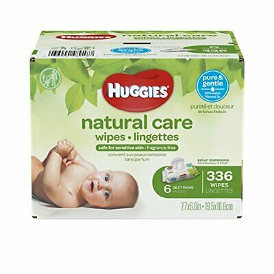 HUGGIES Sensitive Natural Care Unscented Baby Wipes, 336 Count