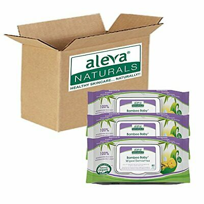Aleva Naturals Bamboo Baby Wipes 240-Count (Pack of 4) (240 count)