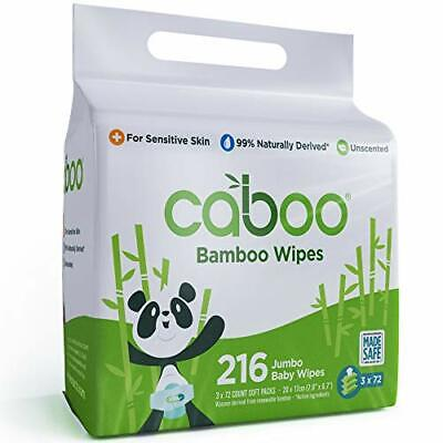 Caboo Tree Free Bamboo Baby Wipes, Eco Friendly Biodegradable Baby Wipes for