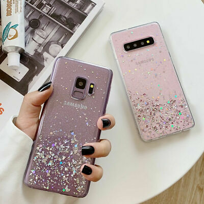 Bling Glitter Clear Gel Soft Phone Case Cover For Samsung Galaxy S10 A10 70 Plus