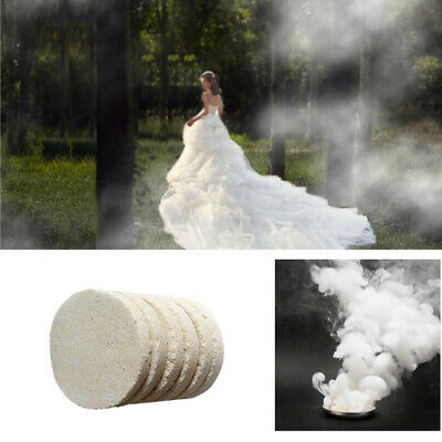 10 x Smoke Cake Colorful Effect Show Round Bomb Stage Photography Aid Magic Show