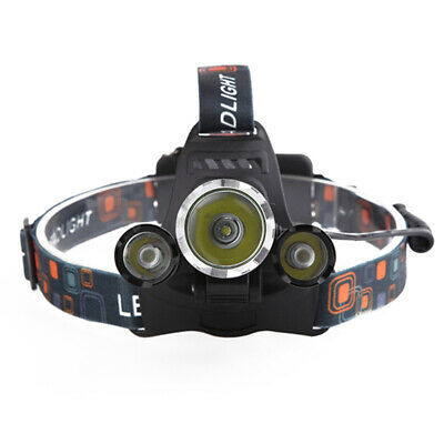 12000LM 3 x XML CREE-T6 LED Rechargeable Head Torch Headlamp HeadLight Lamp Hot
