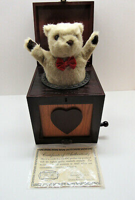 Thomas Pacconi Classics Jack-in-the-Box Teddy Bear Museum Series Wood 2000