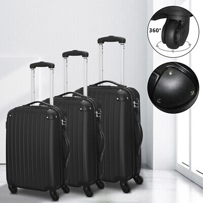 """20"""" & 24"""" & 28""""Luggage Set Travel Bag ABS Trolley Spinner Suitcase with TSA Lock"""