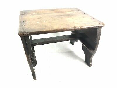 Vintage French Wooden Milking Stool Side Table Free Uk Postage Antique Furniture