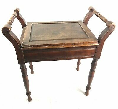 Piano Stool Antique Solid Wood Piano Stool With Storage Area Vintage Furniture