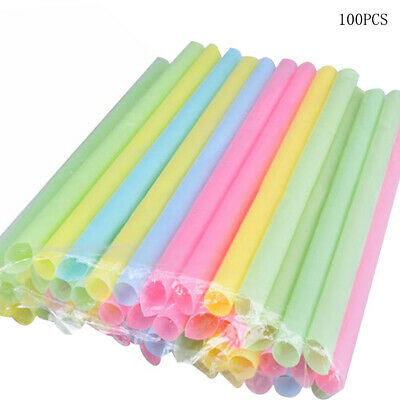 SMOOTHIE MEGA Straws 12mm x 240mm THICK JUMBO STRAWS MULTICOLOUR BUBBLE TEA