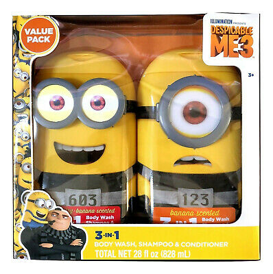 Despicable Me Strawberry Banana Scented 3-In-1 Shampoo Conditioner Body Wash