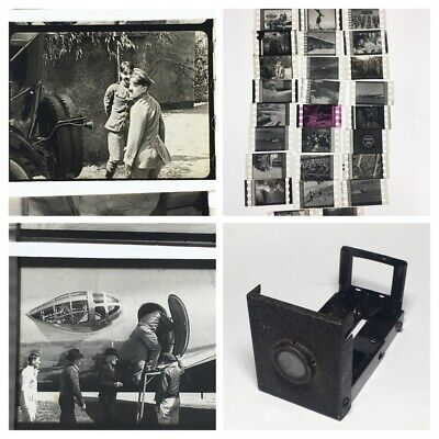 Antique Miniature Tin Photo Film Viewer Charlie Chaplin Etc Optical Toy