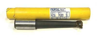 "Morse Boring Bar Tool C2 Carbide Tipped Bar 1"" Shank Lathe Tool 7/8"" Min USA"