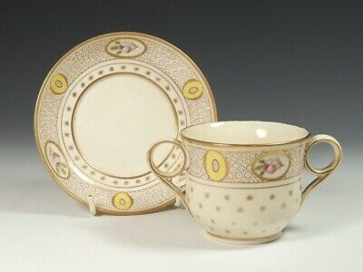 Early 19Th Or Late 18Th Century Porcelain Two Handled Cup And Saucer