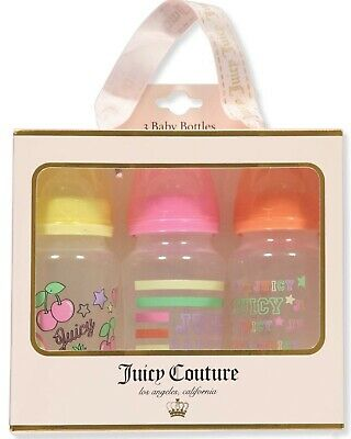 Juicy Couture Baby Bottles Pack Of Three Fruit And Multi Color Design Brand New