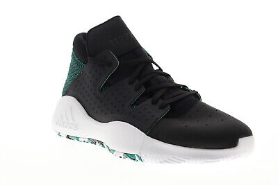 Adidas Pro Vision D96946 Mens Black Lace Up Athletic Gym Basketball Shoes