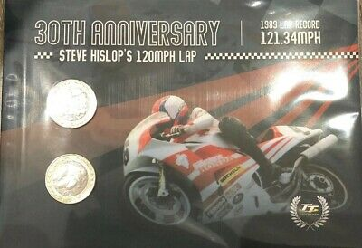 Official Isle Of Man Tt Races 30Th Anniversary Steve Hislop 120 Mph Lap Record