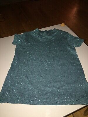 Gorgeous Next girls green sparkly party top age 3 years