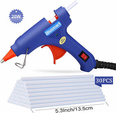 20W Mini Hot Melt Glue Gun with 30pcs Glue Sticks for DIY Crafts Repairs Sealing