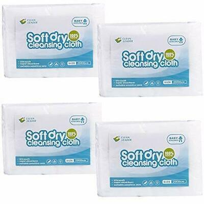 CLEAN LEADER Natural Clean Baby Dry Wipes , Medical standards , Large (200)