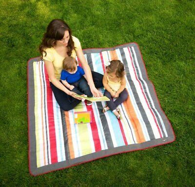 JJ Cole JEMGR Outdoor Mat, Gray/Red (Gray/Red)