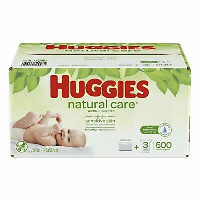 Huggies Natural Care Unscented baby Wipes, (3 Refill Pack + Tub|New Version)