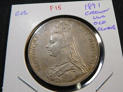 Fr15 Great Britain 1891 Crown UNC Old Cleaning