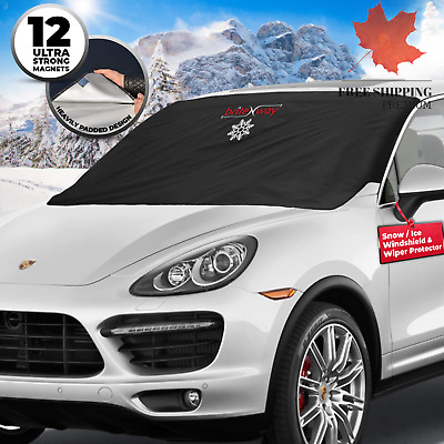 Windshield Snow Cover - Best Auto Ice Guard - Wiper Protector - Non Scratch M...