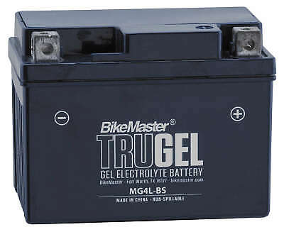 TruGel Gel Cell Battery HTX4L-GEL Replaces YTX4L-BS - For Honda, Yamaha Scooter