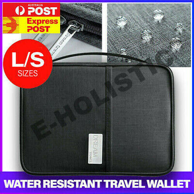 Water Resistant Passport Wallet Holder Case Travel Document Bag Family Organiser