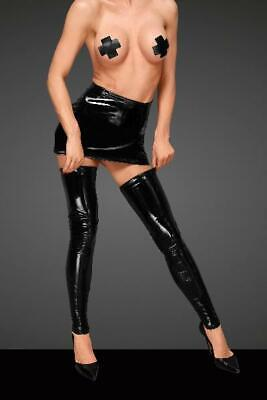 PVC Stockings With Decorative Stitching in Black by Noir - Australian Stock