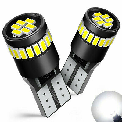 2X T10 501 194 W5W SMD 24 LED Car HID White CANBUS Error Free Wedge Light Bulb..